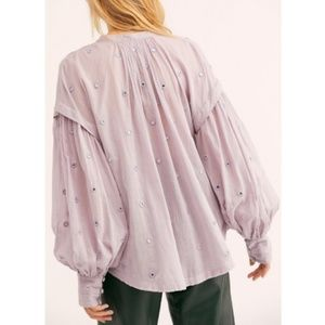Free People Shine Bright peasant tunic top new S